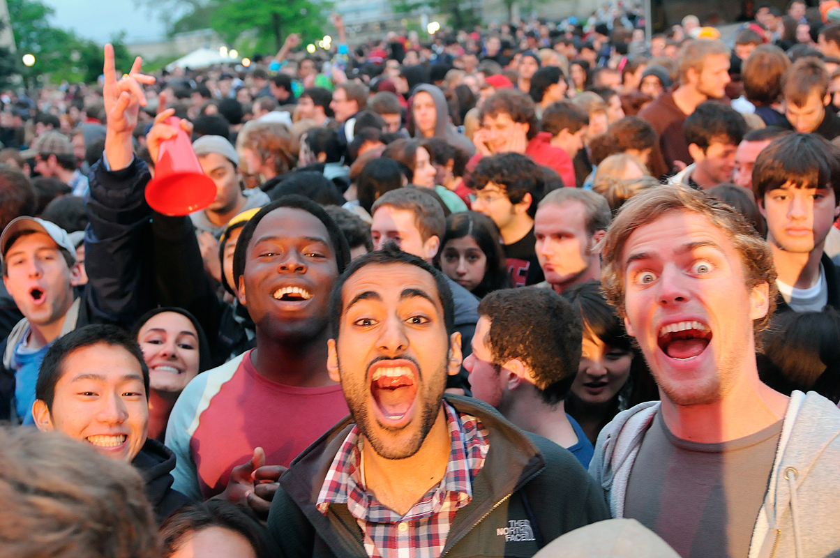 Students get pumped for the Passion Pit concert. (credit: Courtesy of Guillermo Gomez)