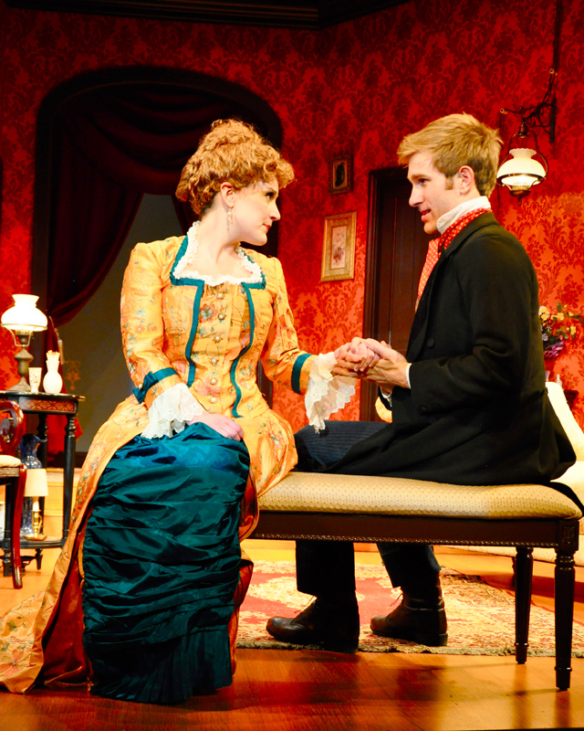 Megan McDermott, who plays the character Catherine Givings, and Denver Milord, who plays Leo Irving, put on two stand-out performances in this production. (credit: Courtesy of Suellen Fitzsimmons)