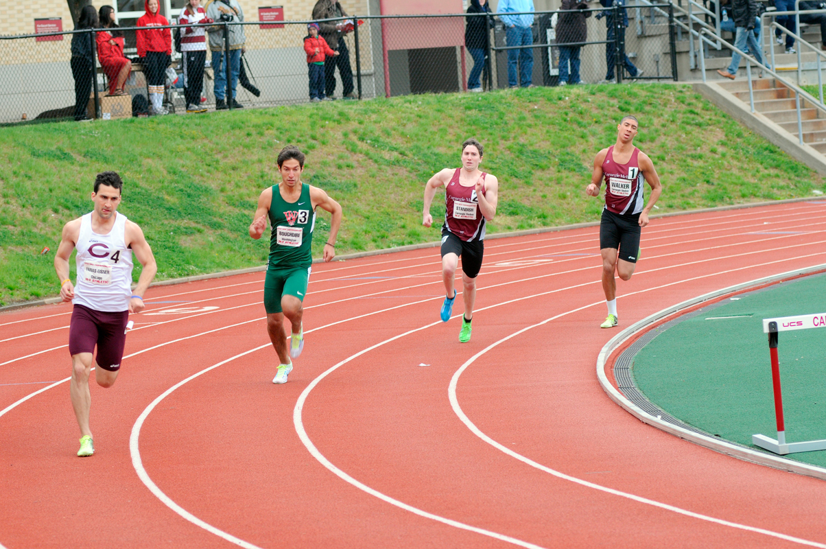 Sophomore Mike Standish helped win the 4x800 relay for the Tartans. (credit: Jennifer Coloma/Operations Manager)