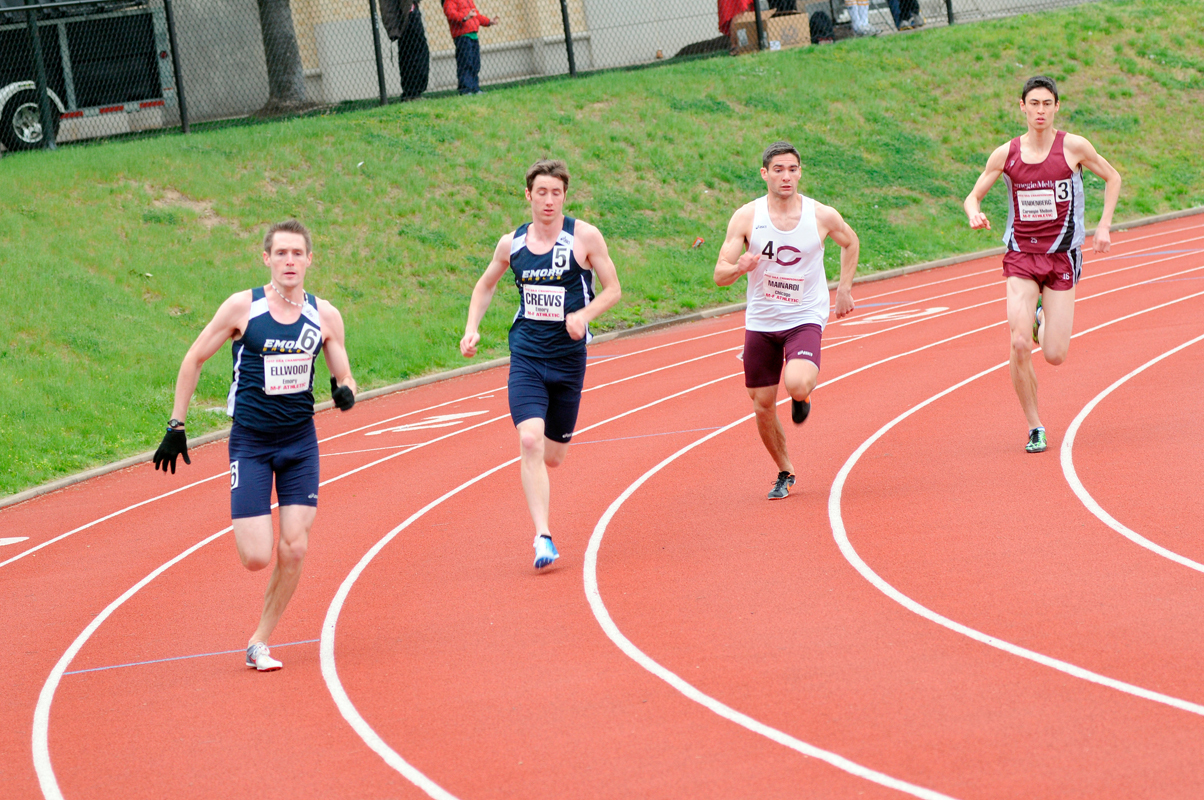 First-year Thomas Vandenberg placed second in 800-meter run. (credit: Jennifer Coloma/Operations Manager)