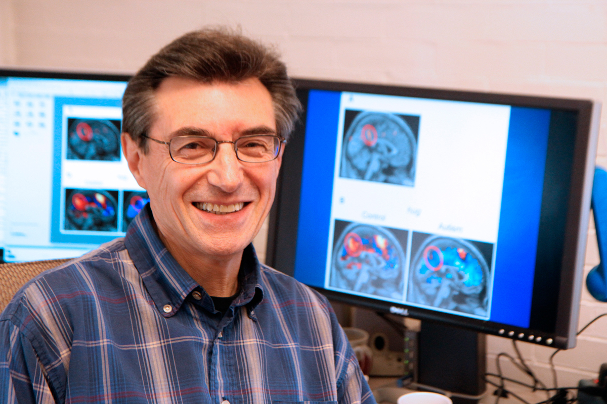 Marcel Just, a professor in the psychology department, studies the interconnectivity of various brain systems. (credit: Jonathan Carreon/Photo Editor)