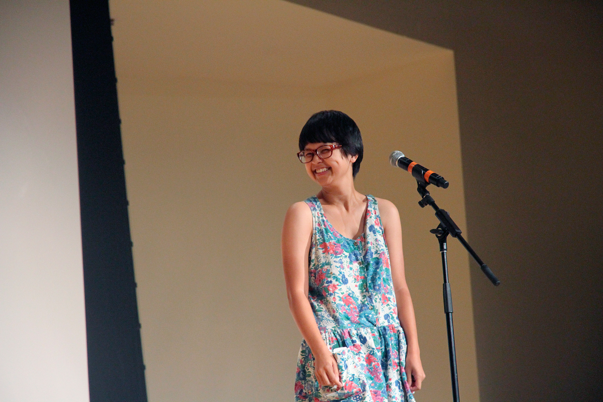 Comedian Charlyne Yi put on a surprising show for students during Orientation week. (credit: Jennifer Coloma/Operations Manager)