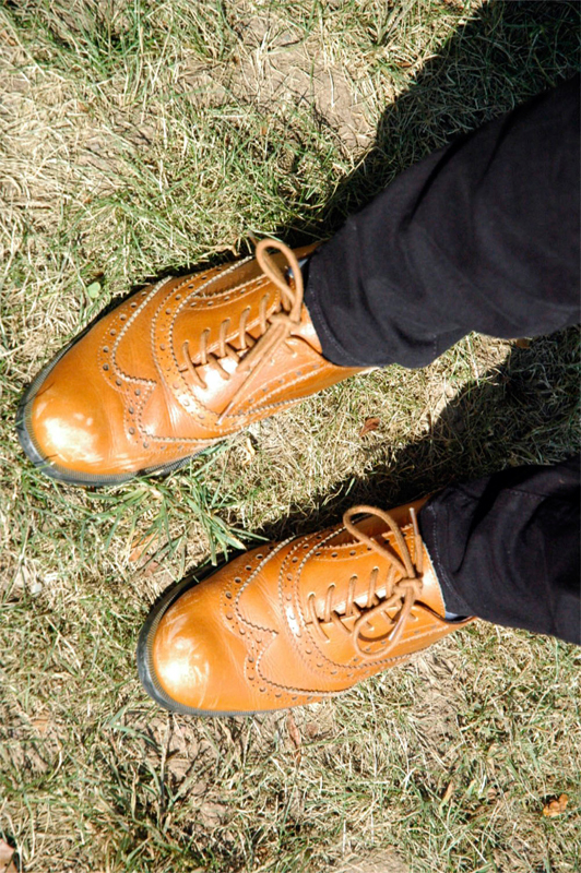 Leather brogues are a fall shoe staple. (credit: Noel Um/)