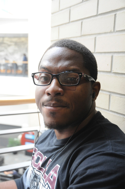 """Chiedozie Okafor MechE Master's  """"Confidence."""" (credit: Jennifer Coloma/Operations Manager)"""