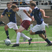 Junior forward Max Tassano (No. 9) had a career night against the Bethany College Bison, totaling seven points in the game with three goals and one assist.