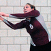 Junior setter Emily Wright (No. 6) had three digs and four kills against Waynesburg University.