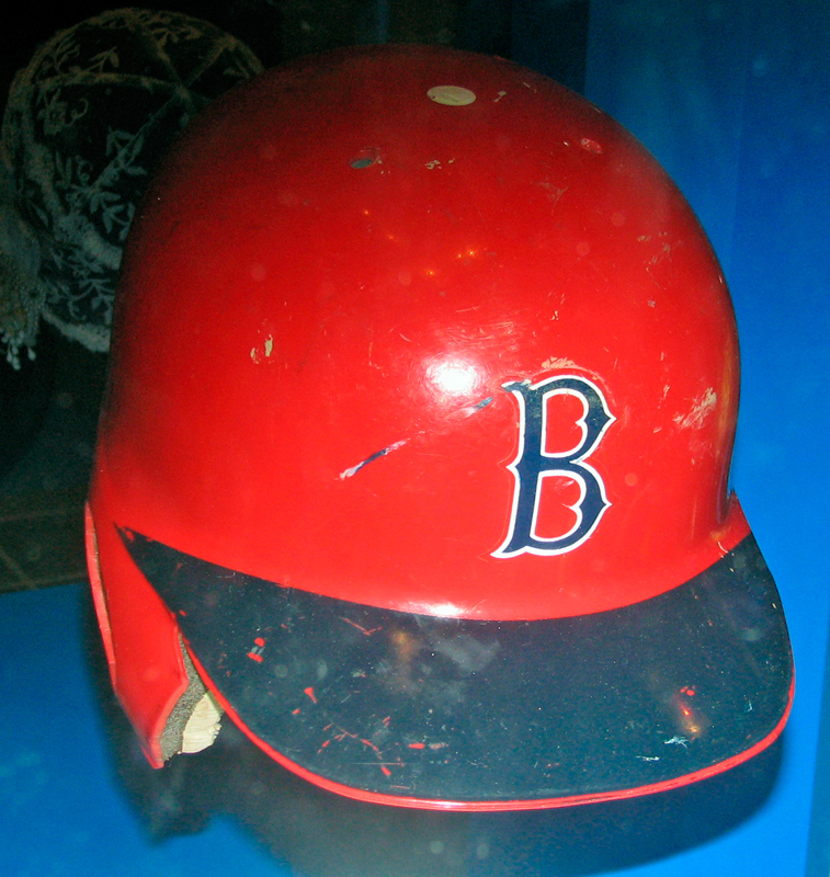 Carl Yastrzemski's batting helmet preserved in the Smithsonian. (credit: Courtesy of treasuresthouhast via Flickr)