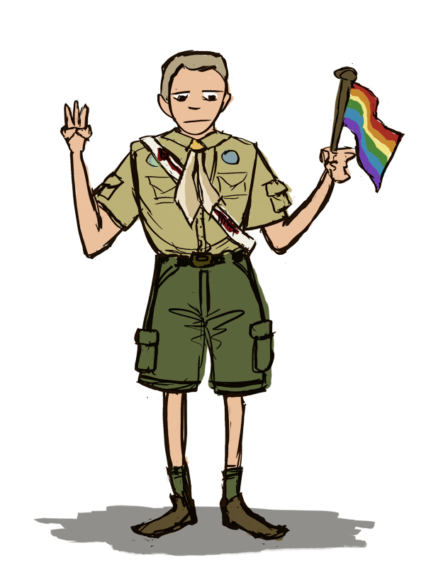 Boy Scouts' policies on gay members must be changed. (credit: Adelaide Cole/Art Editor)