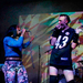 Two members of the House of Ladosha performed a short opening set for queer pop group SSION on Friday night. Their highenergy performance and gender-bending costumes helped get the audience excited for SSION's set.
