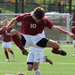 No. 10 junior Mike Ferraco clears a Case Western Reserve University player in yesterday's game.