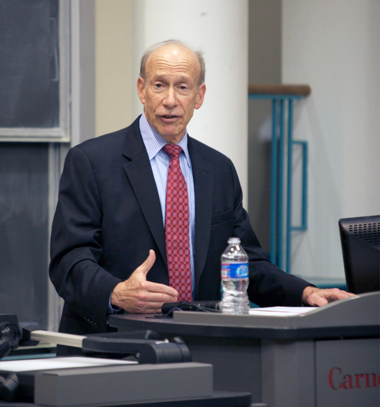 Ambassador Ira Shapiro spoke at Carnegie Mellon on Wednesday about the disparity between what he said was the greatness of previous U.S. Senates and the poor performance of today's Senate. (credit: Jonathan Leung/Junior Photographer)