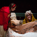 Little Red Riding Hood (junior vocal performance major Hannah Marks) questions her grandmother's strange, wolf-like appearance.