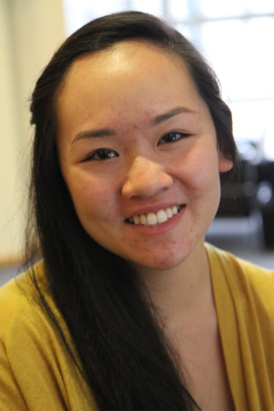 """Grace Pan Business Administration & Decision Science Sophomore  """"Majoring in something non-tech because it's hard to find a job."""" (credit: Jennifer Coloma/Operations Manager)"""