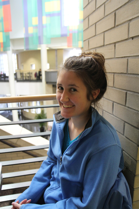 """Shannon Horgan MechE Sophomore  """"Being around people of high-caliber and trying to live up to the high expectations."""" (credit: Jennifer Coloma/Operations Manager)"""