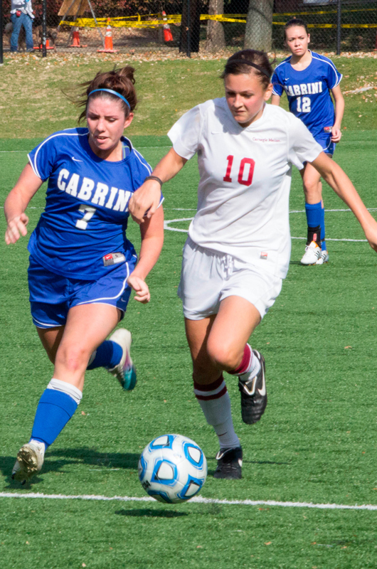 Senior forward Brianna Magill (No. 10) scored twice against Cabrini. (credit: José Lopez/)