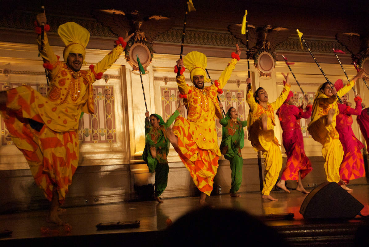 Cornell Bhangra took second place at Saturday night's Bhangra in the Burgh. The team was one of eight bhangra groups that competed in the event. Above, members are pictured performing at last year's Bhangra in the Burgh. (credit: Jessica Sochol/)