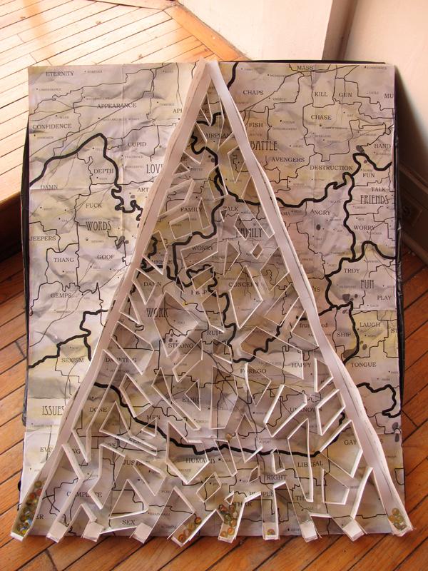 "First-year fine art major Nivetha Kannan's ""Mind Maze"" represents the artist's brain as a labyrinth. (credit: Braden Kelner/)"