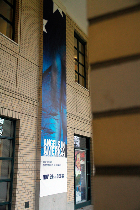 The ongoing School of Drama production of Angels in America will run at the Purnell Center for 