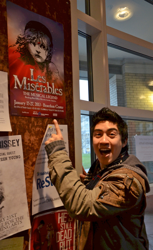 Devin Ilaw, an alumus of Carnegie Mellon's School of Drama, is back in Pittsburgh as part of Broadway Across America's production of Les Misérables. (credit: Kate Groschner/Photo Editor)