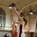 Senior forward Emily Peel goes in for a layup in Friday's game against Washington University in St. Louis.