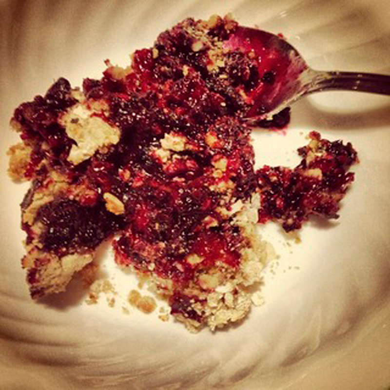 Get your fruity fix with this decadent crumble. (credit: Laura Scherb/Assistant Pillbox Editor)