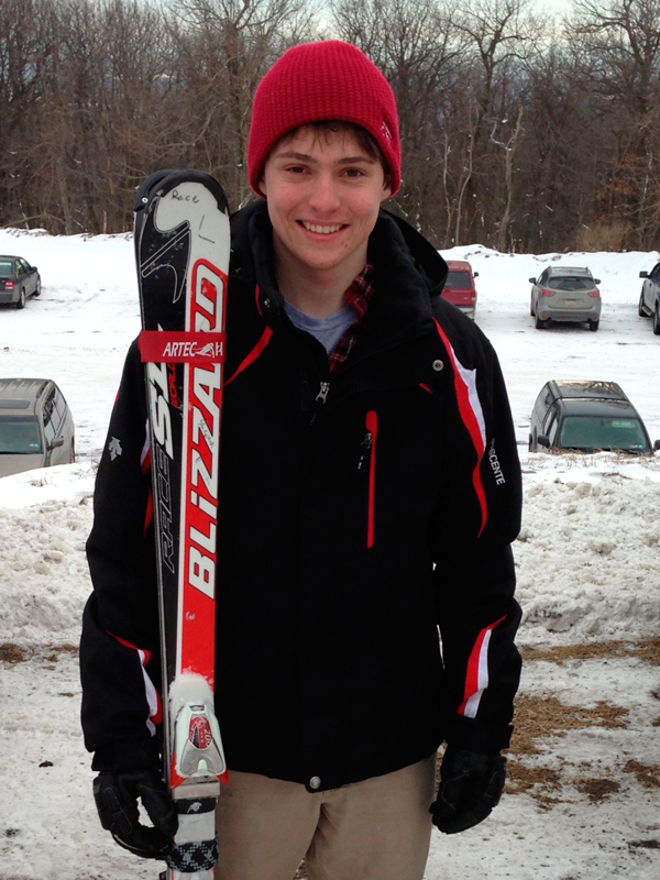 First-year Shepard Emerson is one of the Tartans' top male skiers. (credit: Courtesy of Shepard Emerson)
