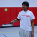 First-year Abhishek Alla is known on the Carnegie Mellon tennis team for his casual style, good sense of humor, and tennis talent.