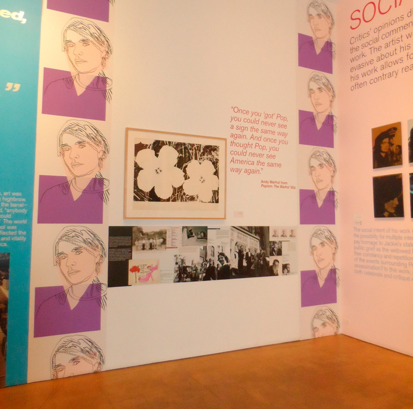 The first floor of the museum commemorates Warhol's life and work. (credit: Sophia  Chang/)