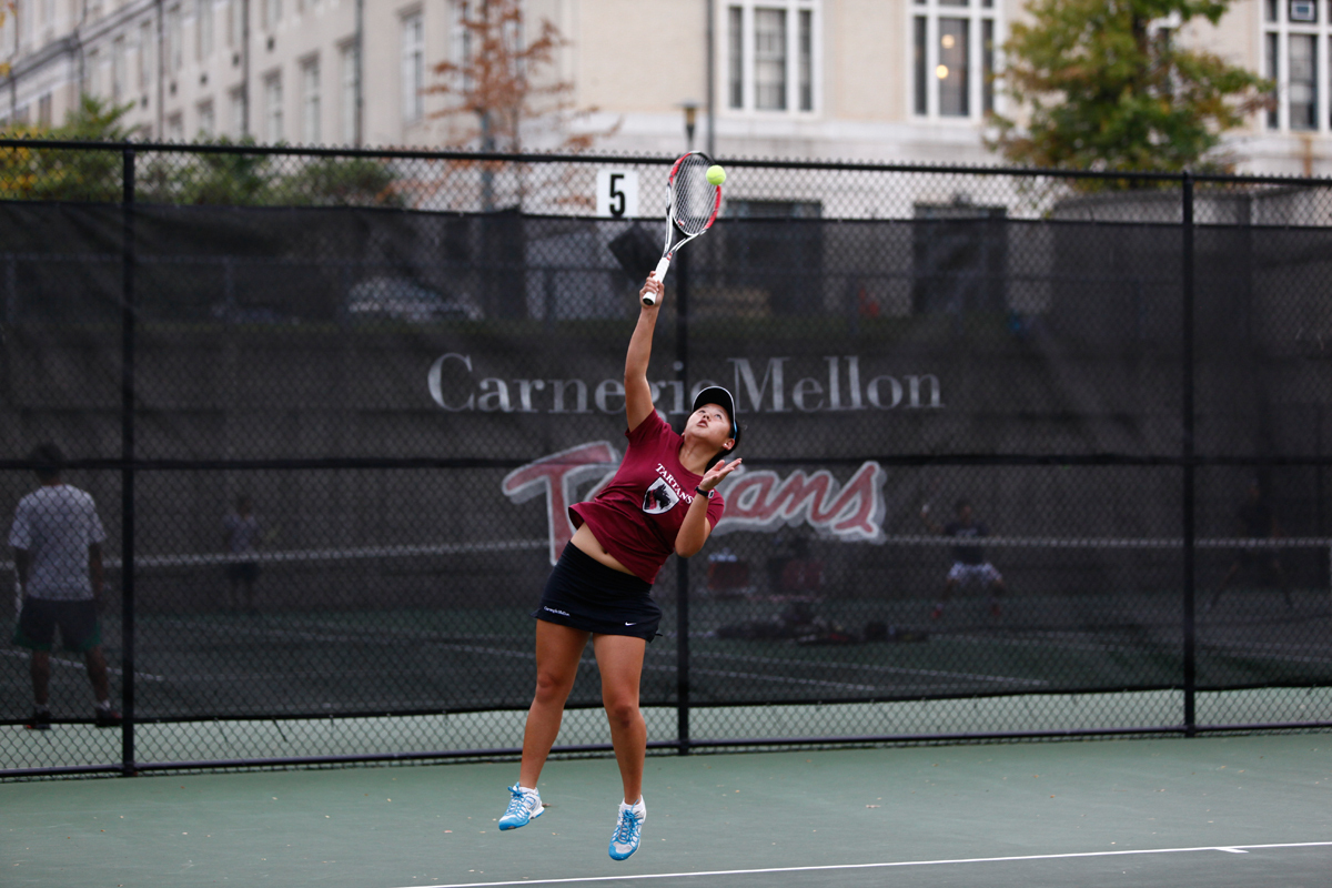 First-year Brooke Tsu was a major asset in the doubles play during the ITA Championship this weekend.  (credit: Jonathan Leung/Assistant Photo Editor)