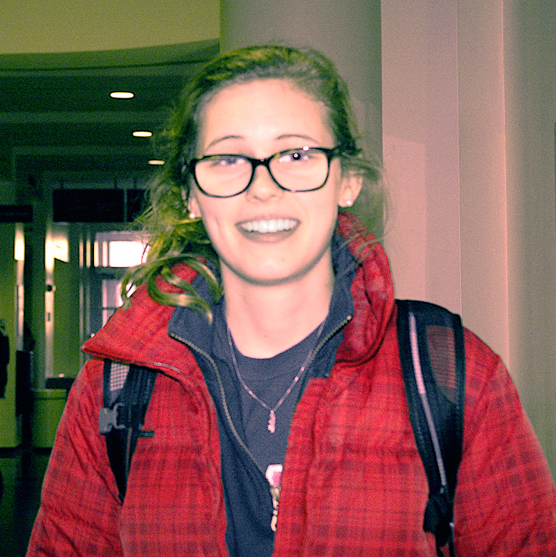 "Hannah Schmitt Architecture Junior  ""Deadlines."" (credit: Justin McGown/Online Editor)"