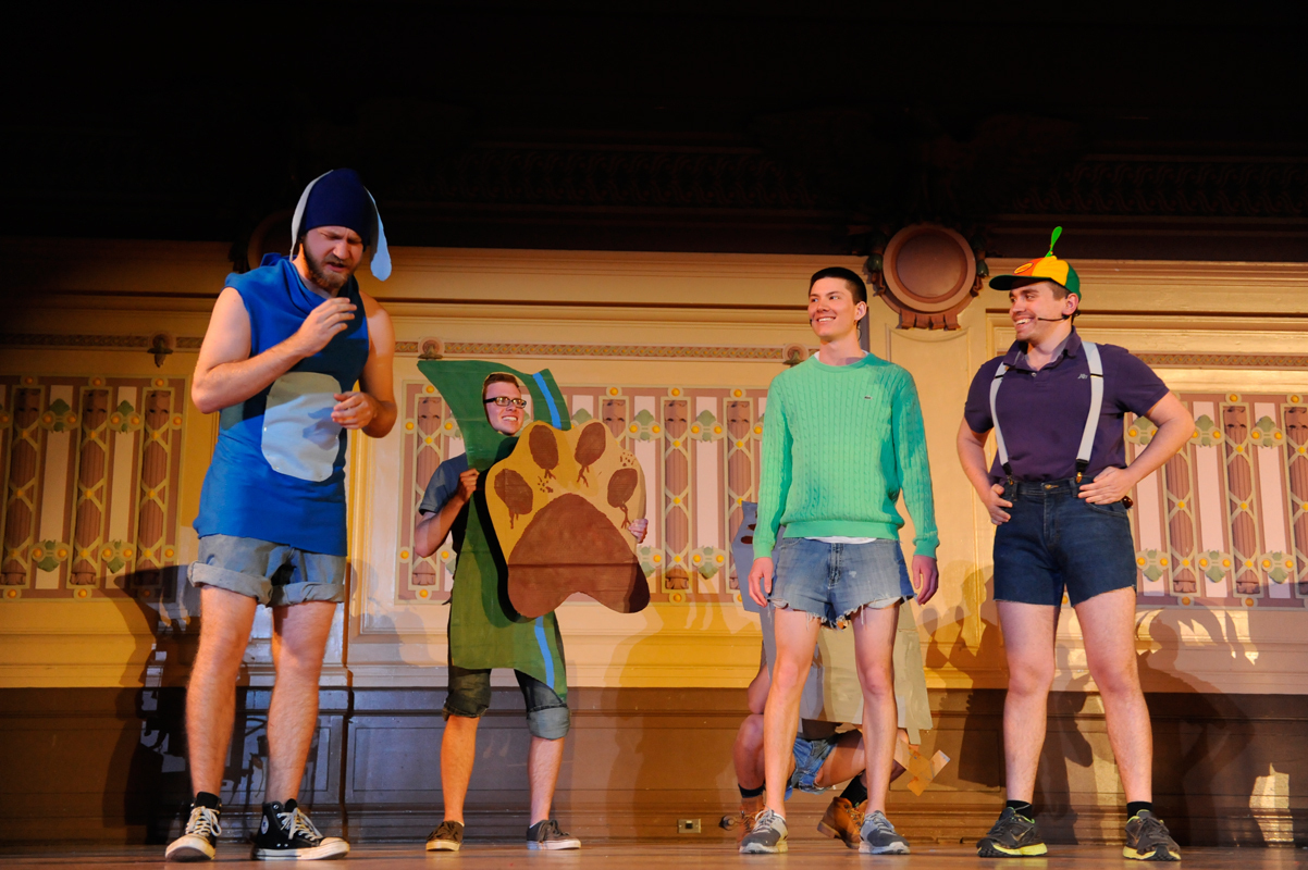 The brothers of Sigma Alpha Epsilon performed a comedic musical skit titled Law & Order: Special Victims Bluenit, which won first place in the singles division. (credit: Alex Webster/)