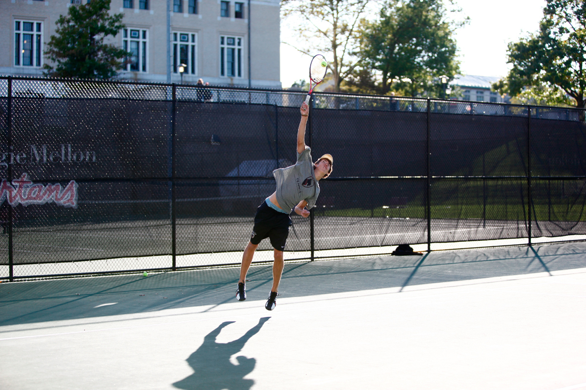 The Tartan men's tennis team faced the University of Mary Washington Eagles last Saturday at home at the Lakevue Athletic Club. (credit: File photo by Jonathan Leung/Assistant Photo Editor)