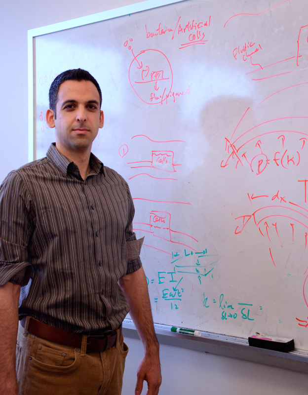 Assistant professor of mechanical engineering Carmel Majidi won an award for his work in soft robotics from the Air Force Office of Scientific Research (AFOSR) Young Investigator Program. (credit: Kate Groschner/Photo Editor)