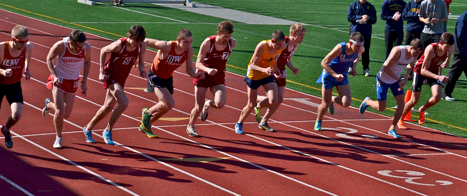 Carnegie Mellon's track and field teams hosted a mini-invitational on campus last Saturday. The men's team came in first place overall, and the women's team came in second place. (credit: Kate Groschner/Photo Editor)