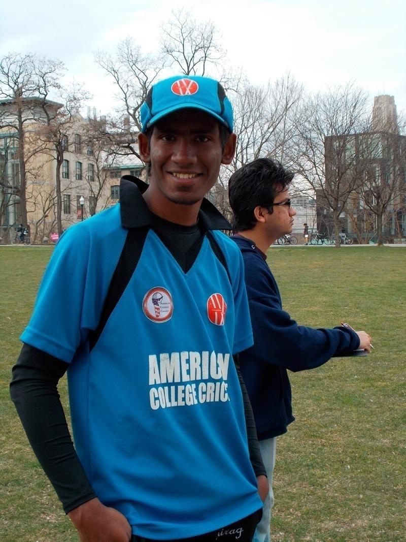 "Premkumar Natarajan Robotics Masters   ""I played cricket."" (credit: Kelsey Scott/Operations Manager)"
