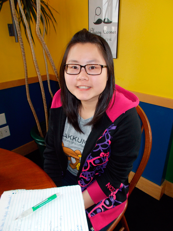 """Serena Chen Information Systems First-year  """"Went jogging."""" (credit: Kelsey Scott/Operations Manager)"""