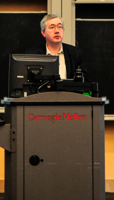 Verbeke lectured on teaching strategies in fields related to architecture.  (credit: Kate Groschner/Photo Editor)