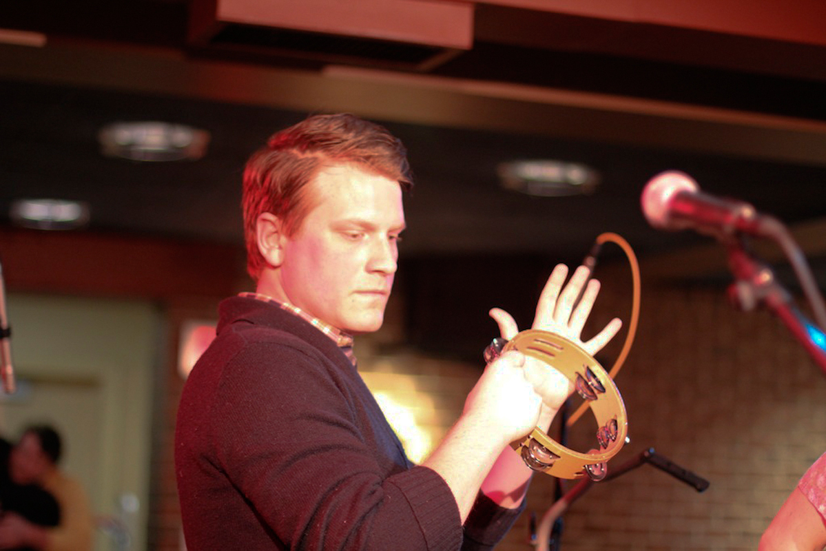 Lead singer Matt Bishop accompanies the main vocals on tambourine. (credit: Courtesy of Chris Skaggs)