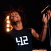 Lupe Fiasco was an energetic performer, tossing his hair and making eye contact with students as he sang.