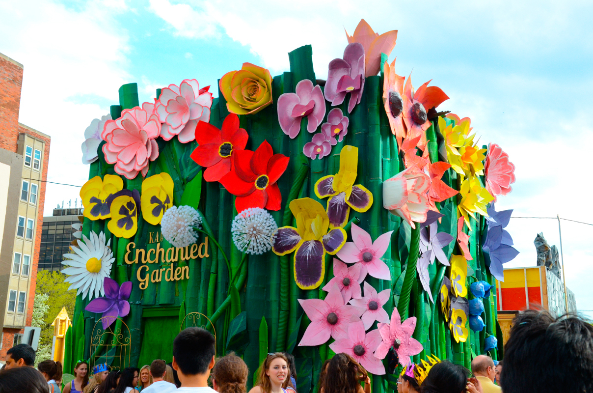 "Kappa Alpha Theta's Thumbelina-themed ""Enchanted Garden"" won second place in the official sorority booth category. (credit: Kate Groschner/Photo Editor)"