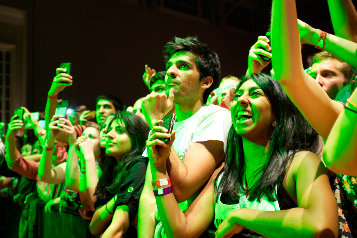The enthusiasm and frequent aggression of the crowd were among the most memorable aspects of the concert. (credit: Andrew Viny/)