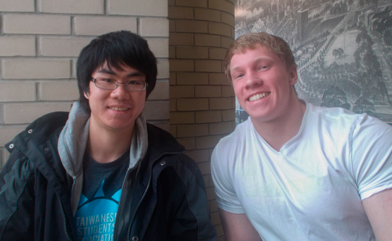 Albert Gu (left), Michael Druggan (right), and Linus Hamilton (not pictured) recently represented Carnegie Mellon at the William Lowell Putnam Competition. (credit: Desiree Xu/Assistant Business Manager)