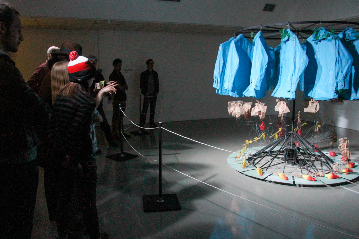 Gregory Barsamian's exhibit was based on recordings of his dreams. (credit: Jonathan Carreon/Contributing Editor)