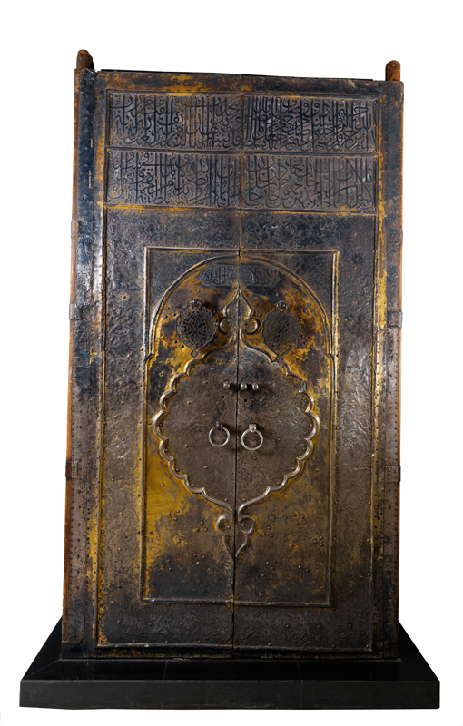 These silver-gilded wooden doors stood at the entrance to the Ka'ba, a monument to Islam supposedly established by the prophet Muhammad when he conquered Mecca in 630 CE. (credit: Courtesy of the Carnegie Museum of Natural History, the Smithsonian's Museums of Asia)