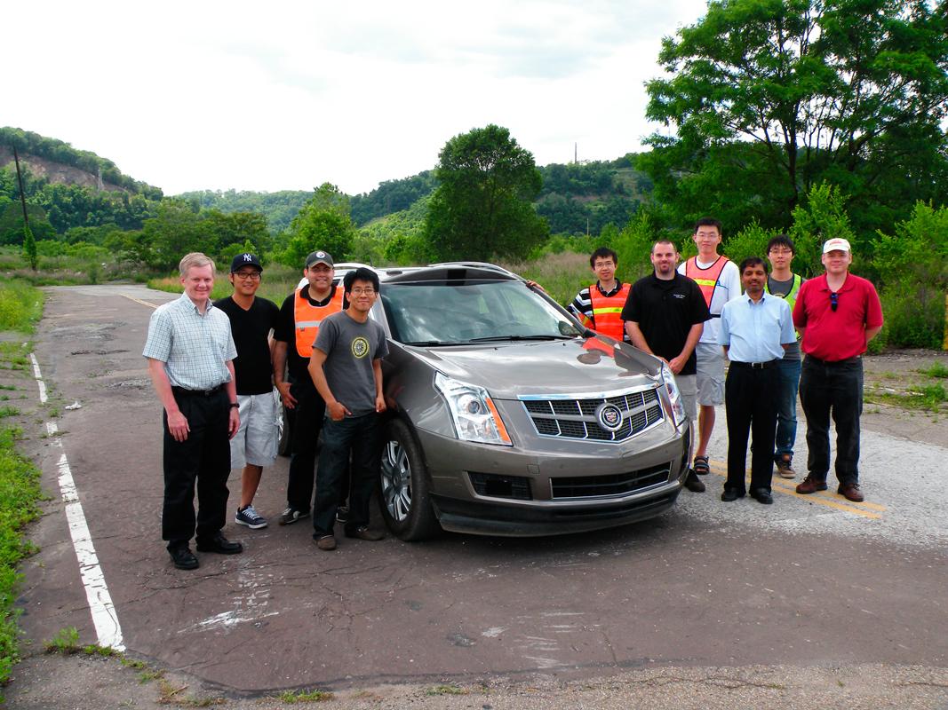 The General Motors-Carnegie Mellon Autonomous Driving Collaborative Research Lab has recently produced a Cadillac SRX that has self-driving capabilities. (credit: Courtesy of Raj Rajkumar)