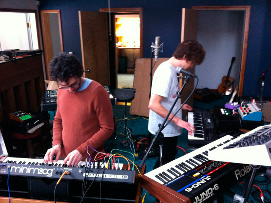 MGMT work on their upcoming third album, MGMT. (credit: Courtesy of Wikimedia Commons)