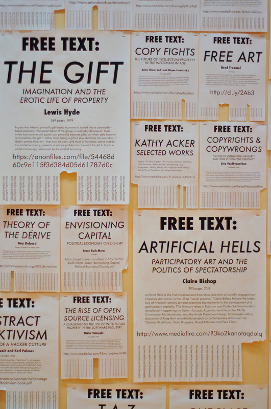 Another display features tear-off flyers of free downloadable documents. (credit: Jason  Chen/)