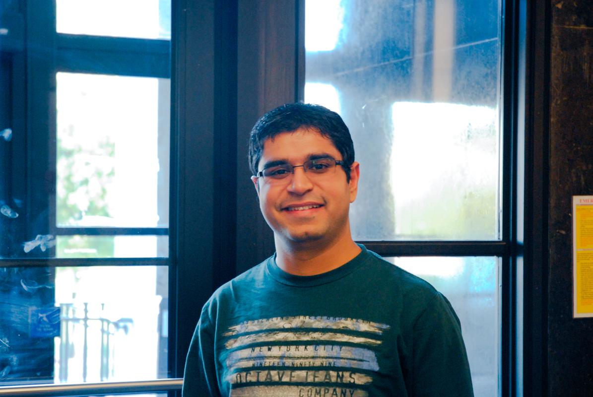 "Pranav Trehun Robotics Graduate student  ""I've never had pumpkin spice."" (credit: Justin McGown/Online Editor)"