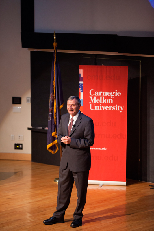 Eikenberry spoke this Friday.  (credit: Jonathan Leung/Assistant Photo Editor)