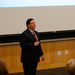 City council member Bill Peduto spoke in Giant Eagle Auditorium.